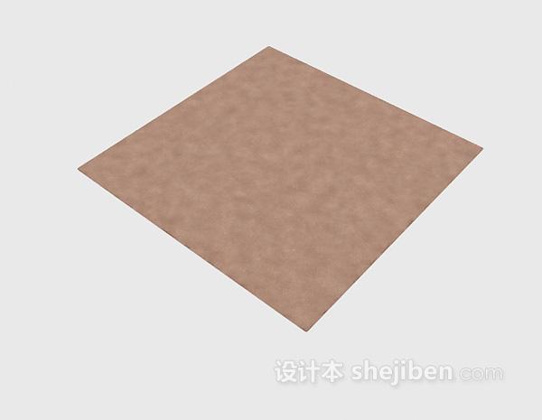 灰色地毯3d模型下载