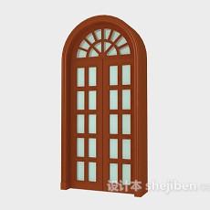 欧式木窗3d模型下载