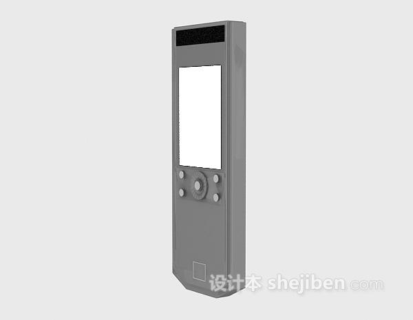 电子遥控器3d模型下载