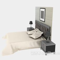 美式床具3d模型下载