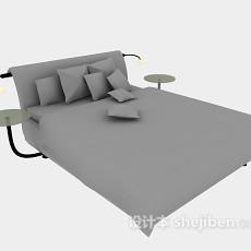 现代床3d模型下载