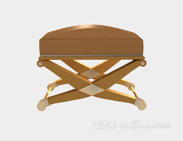 欧式沙发凳3d模型下载