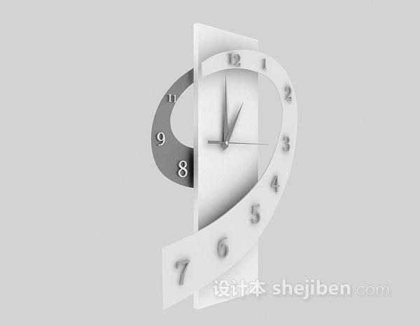 创意时钟3d模型下载