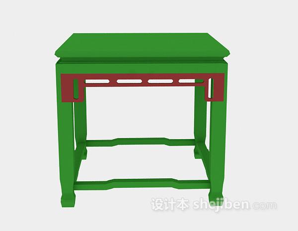 中式风格凳子3d模型下载