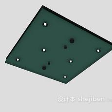 方形吊灯3d模型下载
