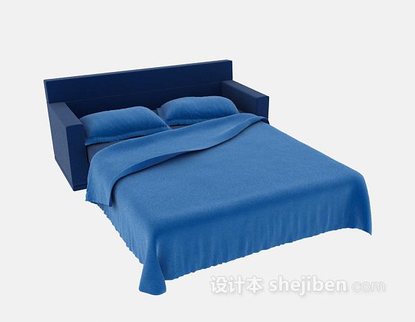 沙发造型双人床3d模型下载