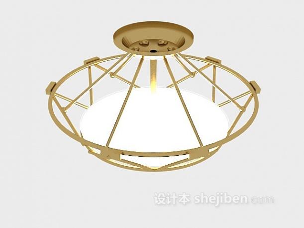 金属材料吊灯3d模型下载