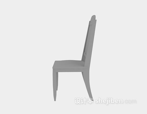 木质椅子3d模型下载