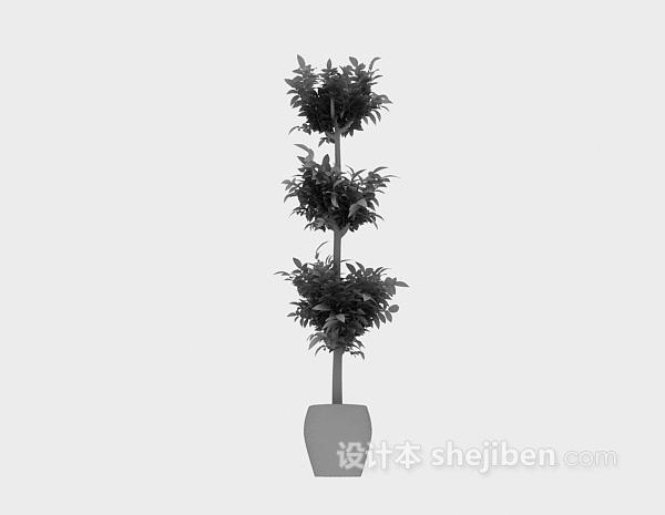 室内小盆栽模型免费下载