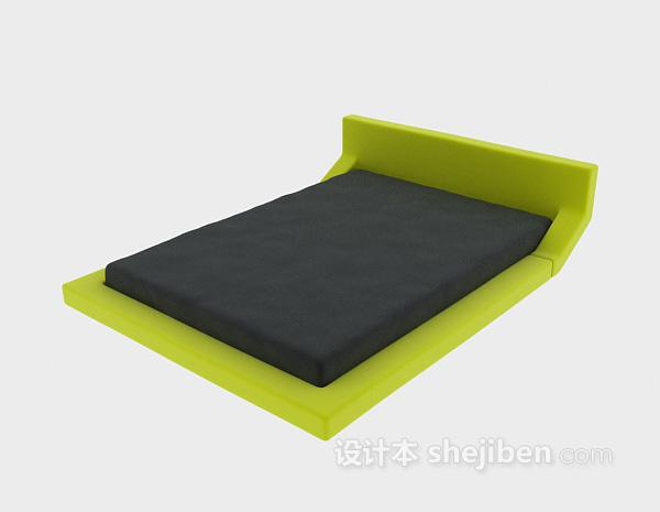绿色床垫床模型下载