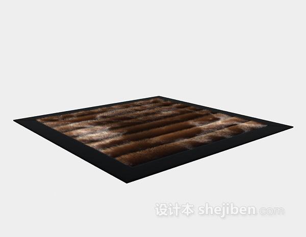 绒毛地毯3d模型下载