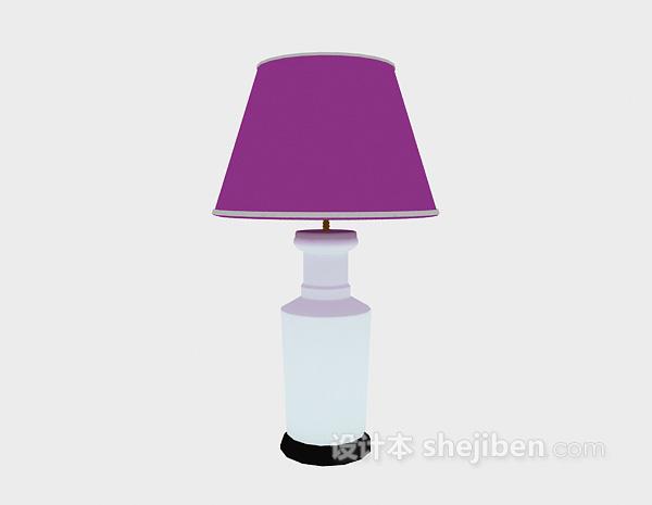 卧室台灯模型3d下载