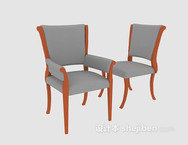 欧式简单家居椅3d模型下载