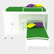 学校宿舍上下铺床3d模型下载