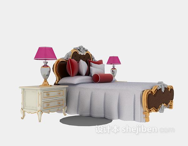 欧式家具3d模型下载