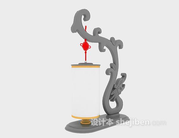中式雕花灯具3d模型下载