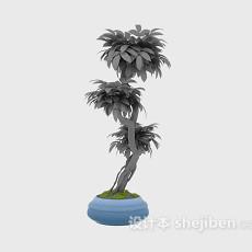 室内小盆栽3d模型下载