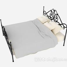 铁艺双人床3d模型下载