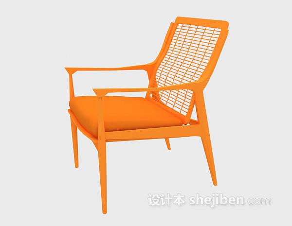 木质休闲椅3d模型下载