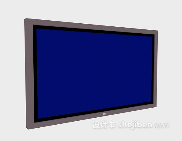 电子显示器3d模型欣赏