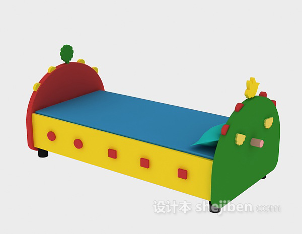 可爱实木儿童床