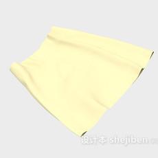 黄色短裙3d模型下载