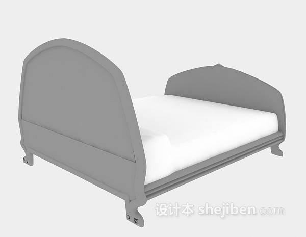 实木儿童床3d模型下载