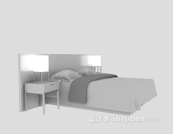 酒店用床3d模型下载