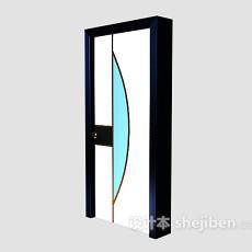玻璃门结构3d模型下载