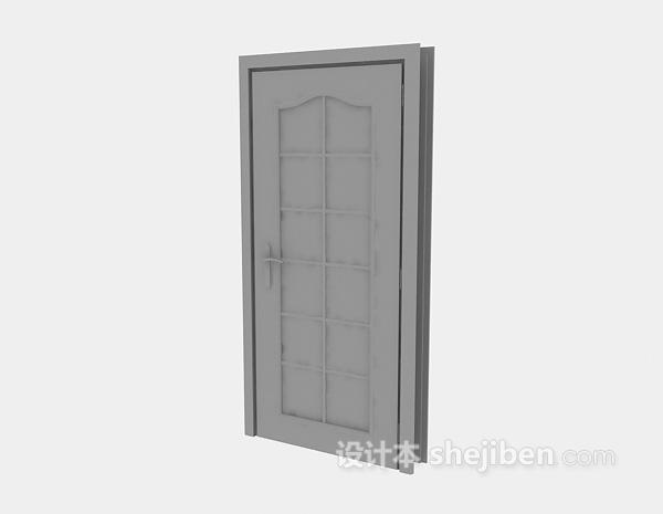 现代房门3d模型下载