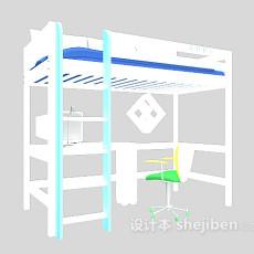 学校宿舍床3d模型下载