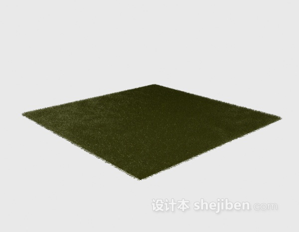 深绿色地毯3d模型下载
