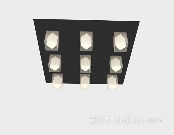 屋顶吊灯3d模型下载