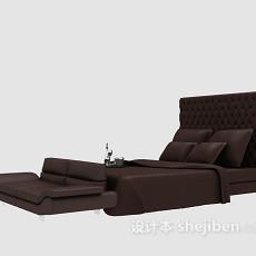 棕色床具3d模型下载