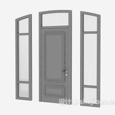 玻璃门3d模型下载