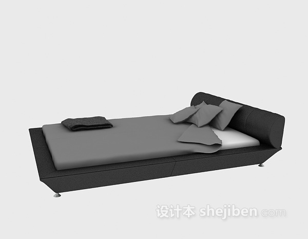 家具床3d模型下载