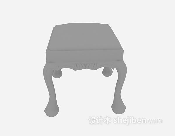 家居凳子3d模型下载