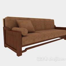多人中式沙发3d模型下载