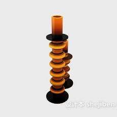 东南亚烛台灯3d模型下载