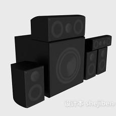 大小音箱组合3d模型下载