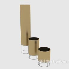 现代蜡烛灯3d模型下载