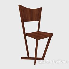 田园简约餐椅3d模型下载