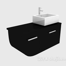 现代风格简约浴柜3d模型下载