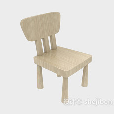 田园风格原木休闲椅3d模型下载