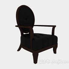 单人欧式沙发椅3d模型下载