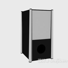 黑色方形音箱3d模型下载