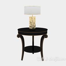 欧式客厅沙发边桌3d模型下载