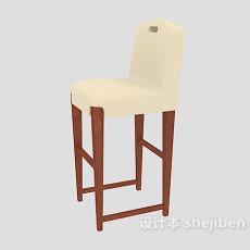 家居高脚椅3d模型下载