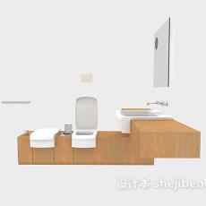 浴室柜整体组合3d模型下载