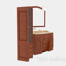 转角洗手盆镜子组合3d模型下载